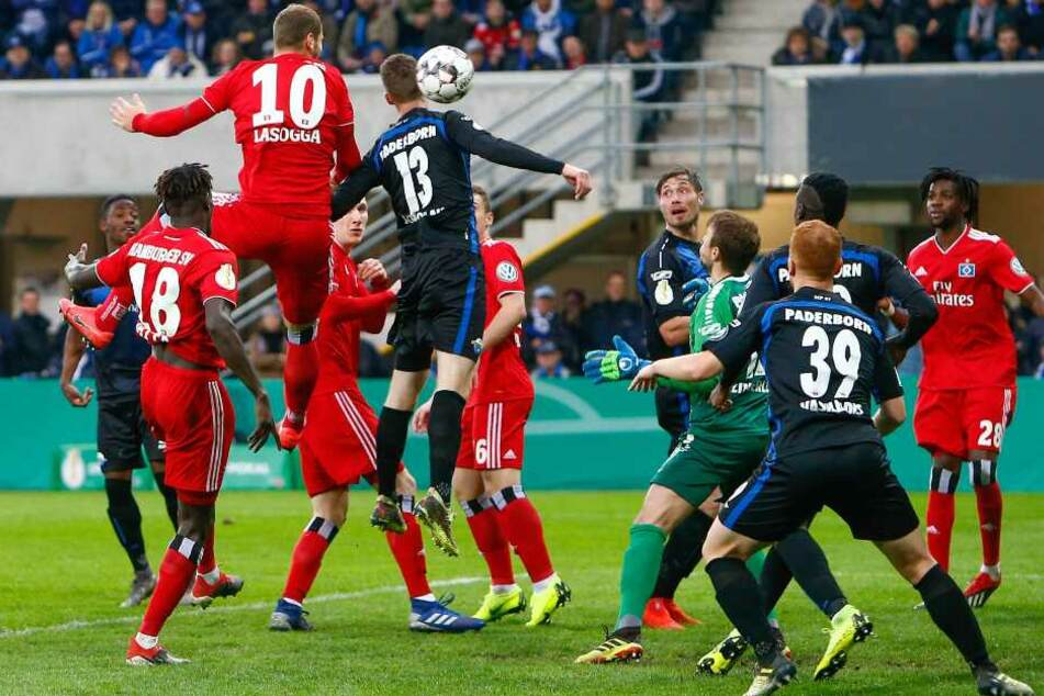 Gegen den 0:1-Treffer von Pierre-Michel Lasogga (HSV) konnten die SCP-Kicker nichts mehr ausrichten.