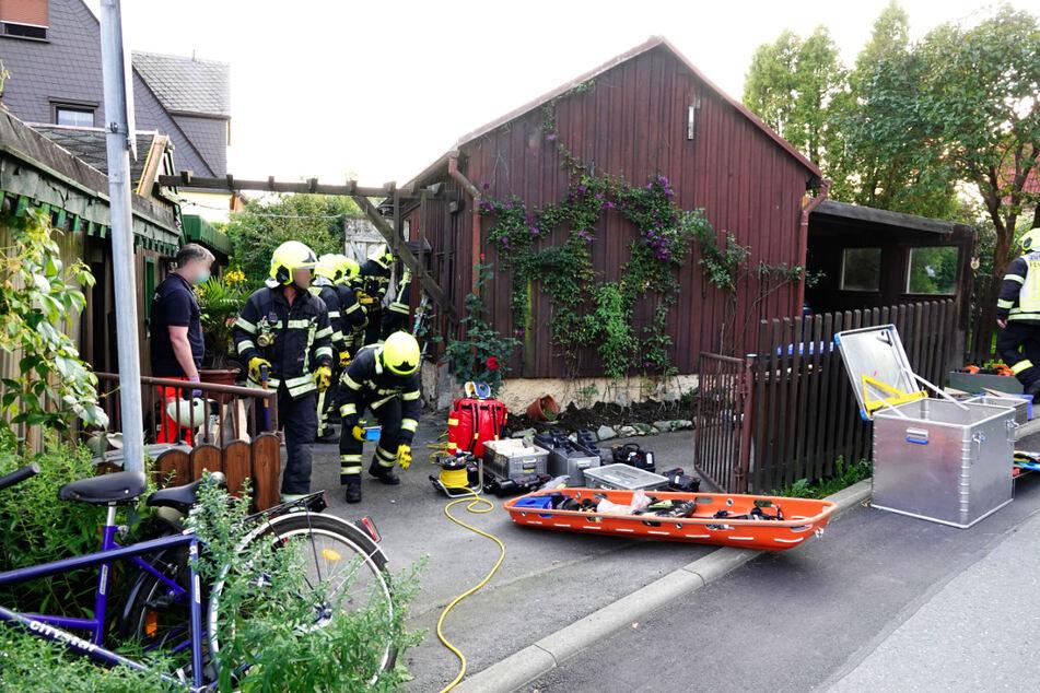 Die Feuerwehr wurde am Sonntag gegen 17 Uhr zu einem eingestürzten Schuppen gerufen.