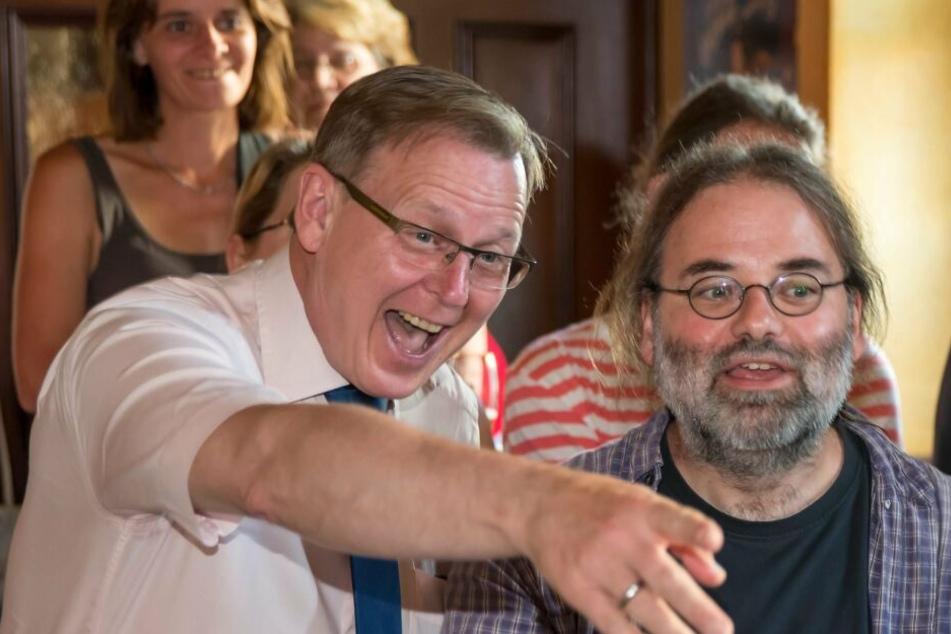 Steffen Dittes (re.) mit Bodo Ramelow.