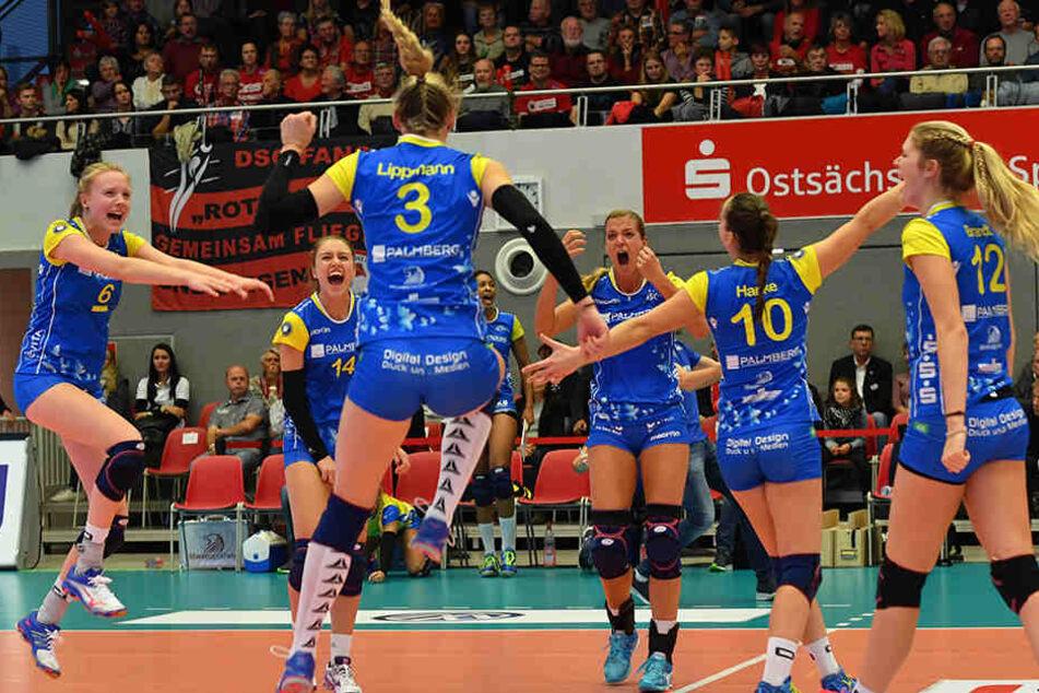 Den ersten Punkt des Spiels machte die Ex-Dresdnerin Louisa Lippmann.