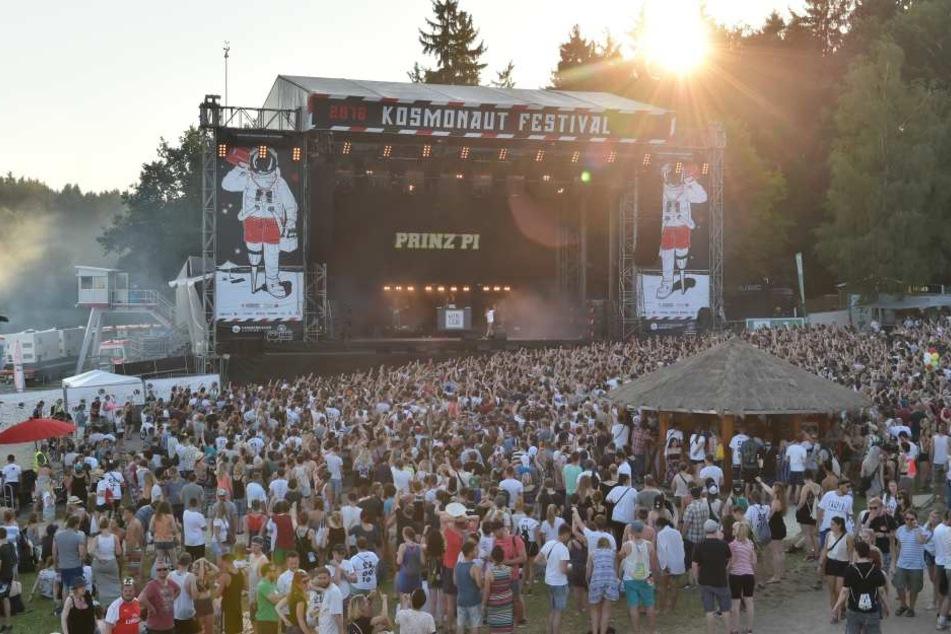 Das Kosmonaut-Festival am Stausee Rabenstein.