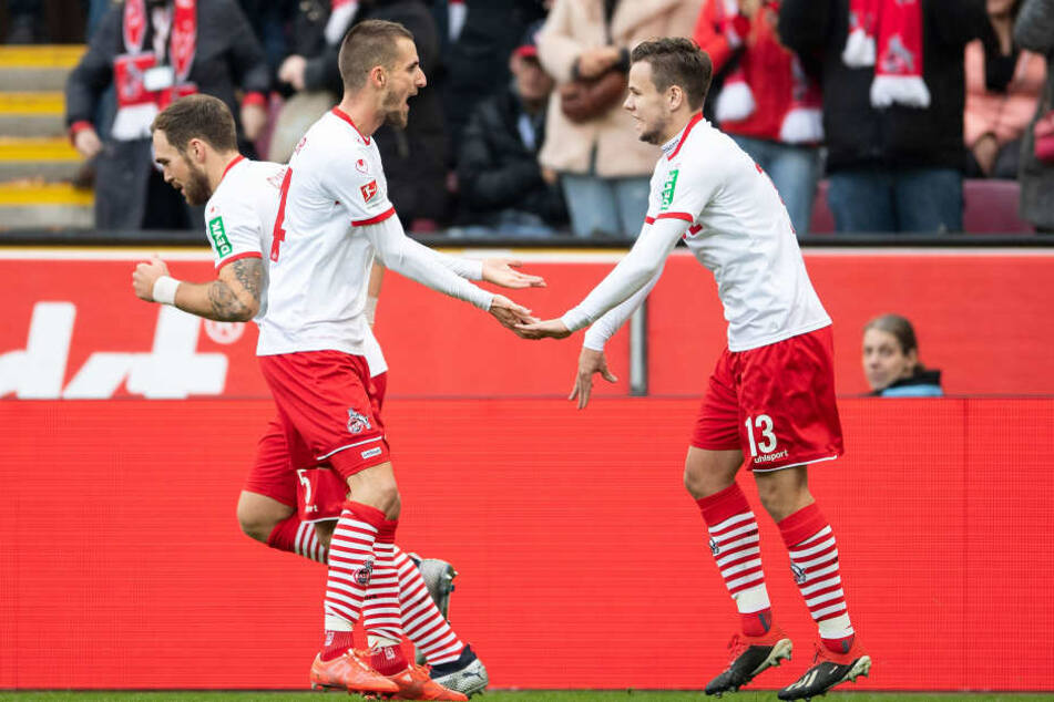 Dominick Drexler (28, m.) traf nach 17 Minuten zum 1:0 für den 1. FC Köln
