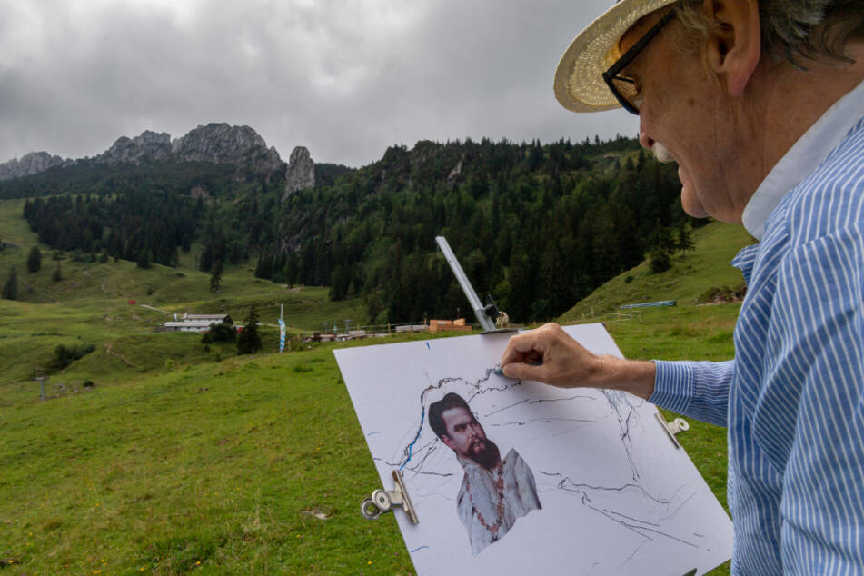 Königsanhänger wollen ein Porträt von Ludwig II. in die Kampenwand meißeln.