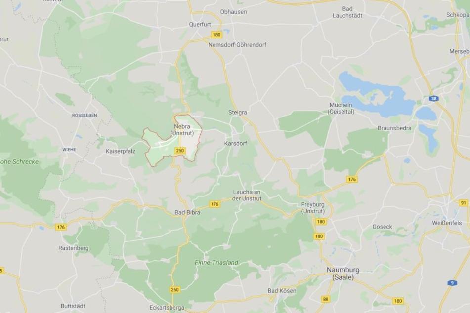 Der Einsatzort war Reinsdorf, ein Ortsteil von Nebra (Unstrut).