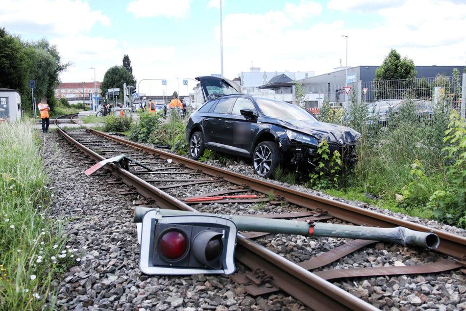 Die Unfallstelle am Dienstag.