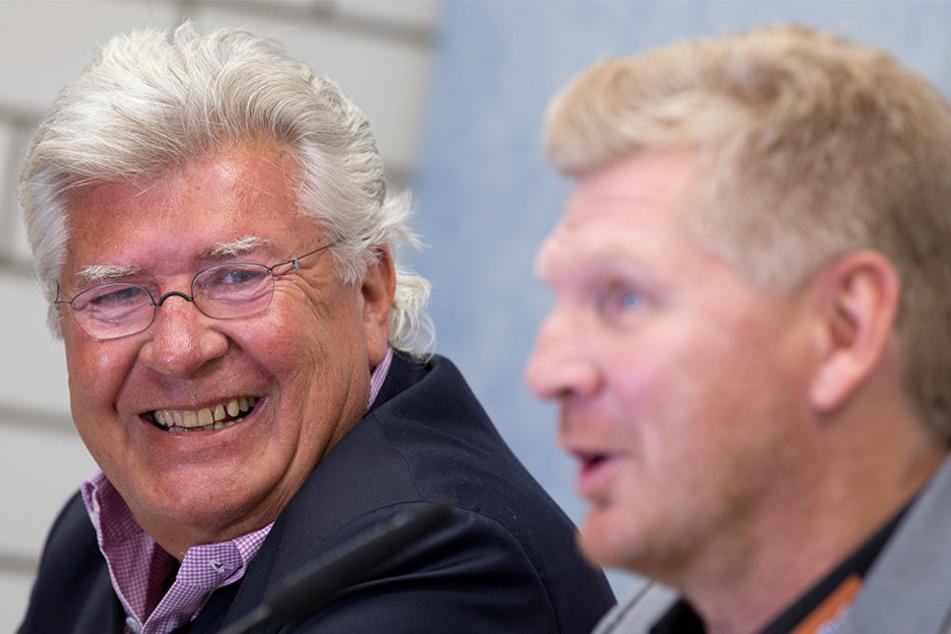 Hier war Wilfried Finke noch im Amt: Er stellte den damaligen Trainer Stefan Effenberg ein.
