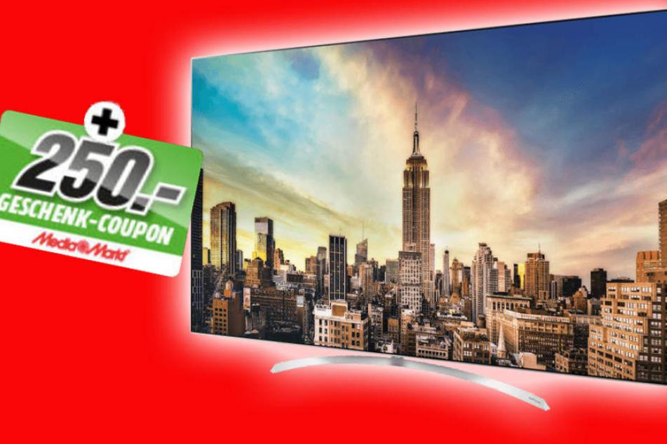 Einen 250 Euro Coupon gibt's beim Kauf des OLED-TVs von LG.