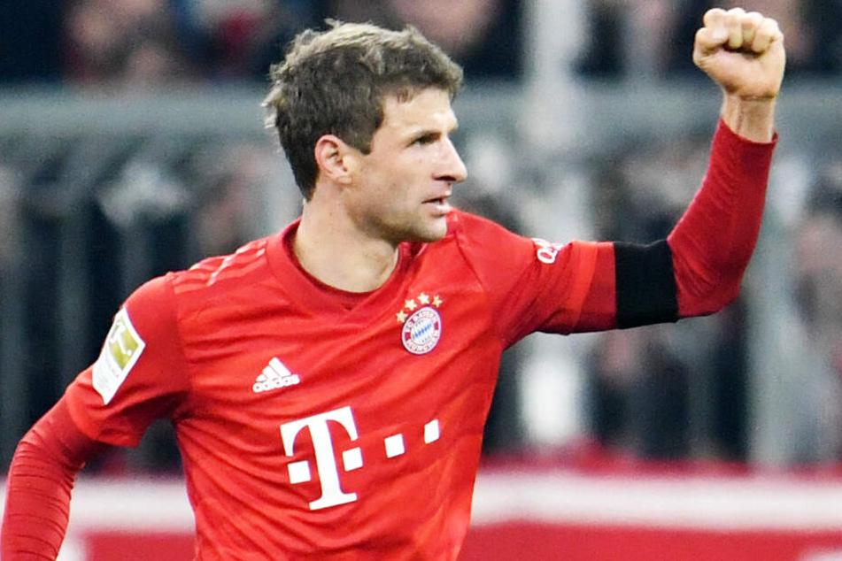 Thomas Müller zeigte gegen den FC Schalke 04 eine ansprechende Leistung.