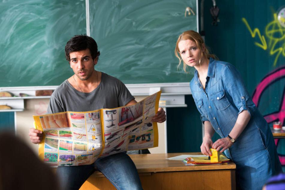 Elyas M`Barek und Karoline Herfurth werden von der Klasse ganz schön auf Trab gehalten.