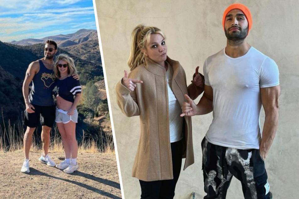Britney Spears (39) mit ihrem Freund Sam Ashgari (27). Auf seinem Instagram-Account präsentiert Sam nur wenig gemeinsame Bilder aus ihrer Beziehung.