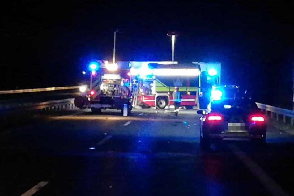 Wegen eines schweren Unfalls musste die A14 in Richtung Leipzig gesperrt werden.