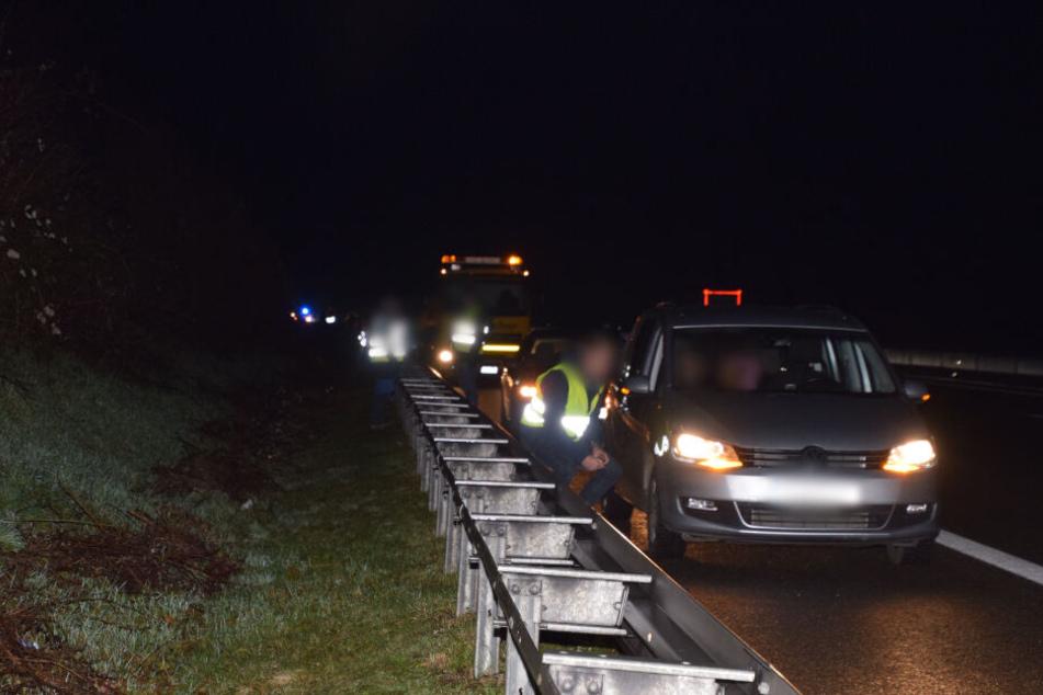 Massenunfall auf der A6 mit Wildschweinen: Zehn Autos beteiligt