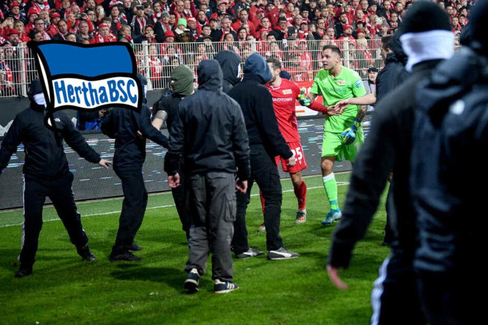 Verletzte durch Raketen-Würfe bei Berliner Derby: Polizei ermittelt gegen Hertha-Fans