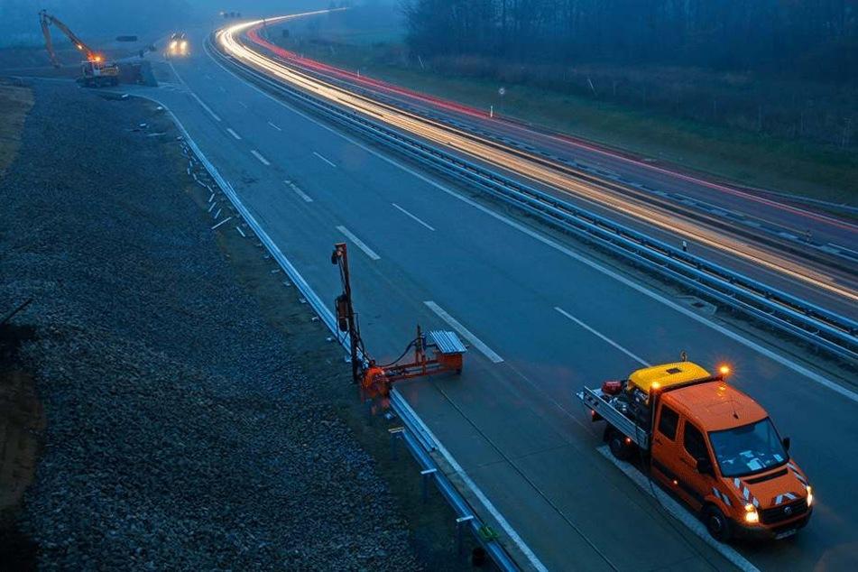 Derzeit werden auf der A13 die letzten Arbeiten beendet.