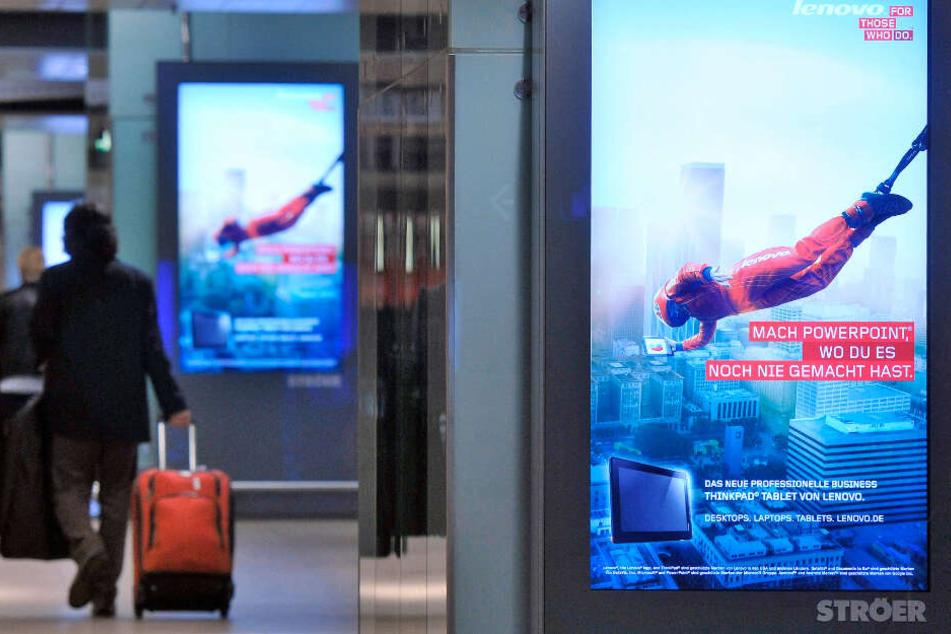 Sieht man in ganz Deutschland: die Werbebildschirme von Ströer.