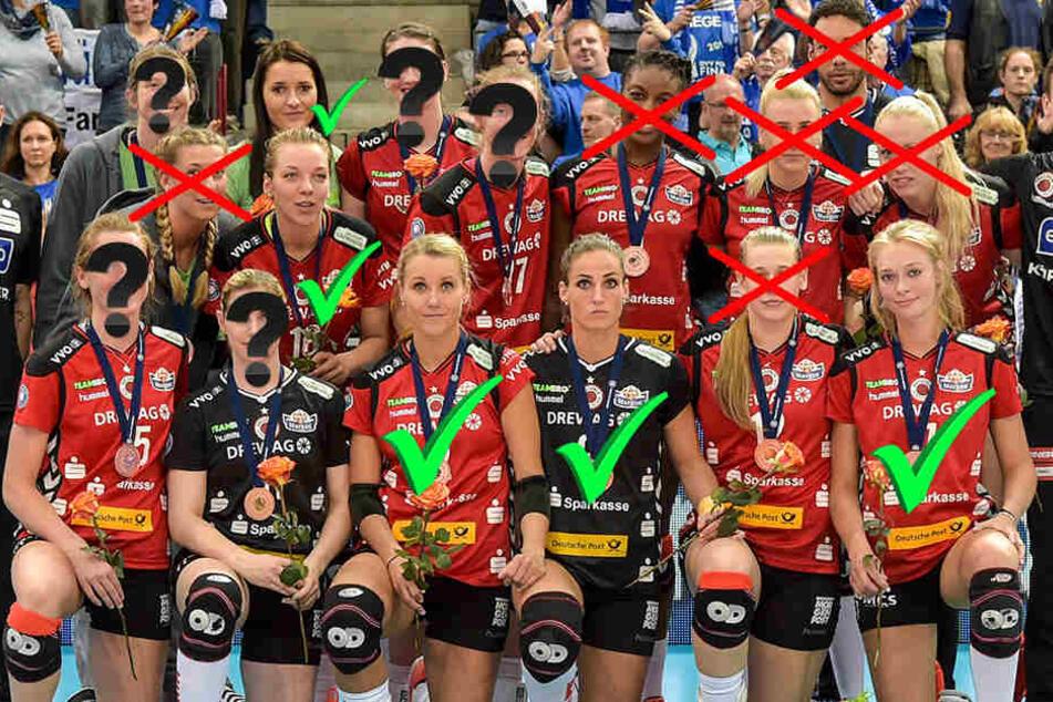 Fünf Spielerinnen haben nun Vertrag, fünf gehen, bei fünf ist die Zukunft noch unklar.