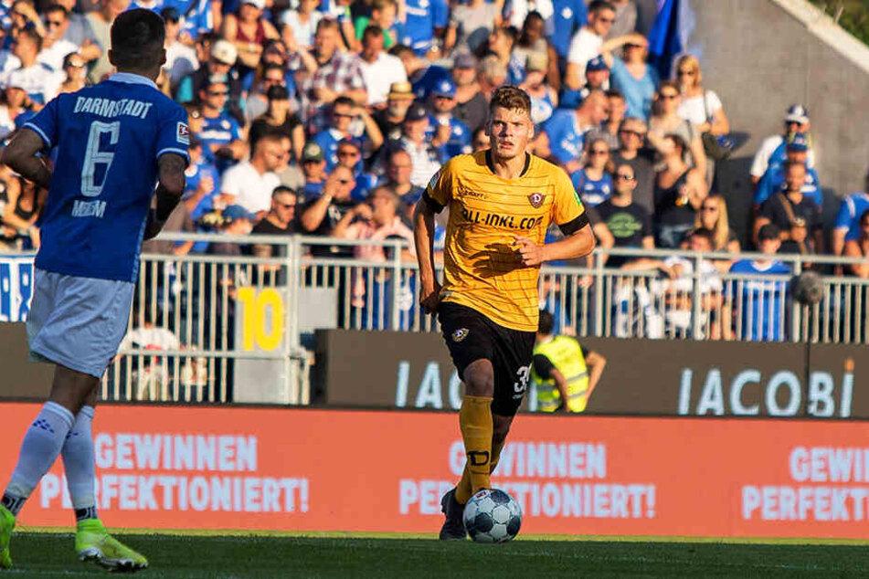 Kevin Ehlers beim Spiel in Darmstadt. Es war sein viertes Punktspiel über die volle Distanz.