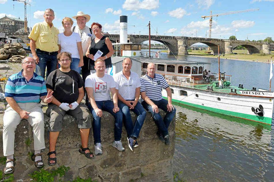 Auf dem Dampfer Dresden haben die Förderverein-Initiatoren am Wochenende das Projekt vorgestellt.