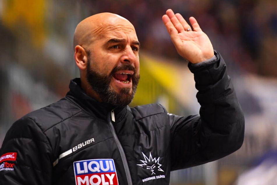 Eislöwen-Coach Rico Rossi konnte happy sein mit der Leistung in Bietigheim.