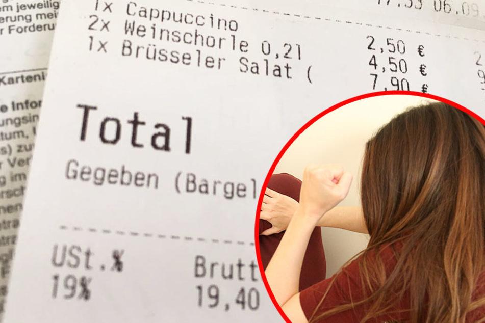 Weil sie ihre Rechnung nicht bezahlen konnte, ging die Frau auf die Mitarbeiterin des Lokals los! (Symbolbild)