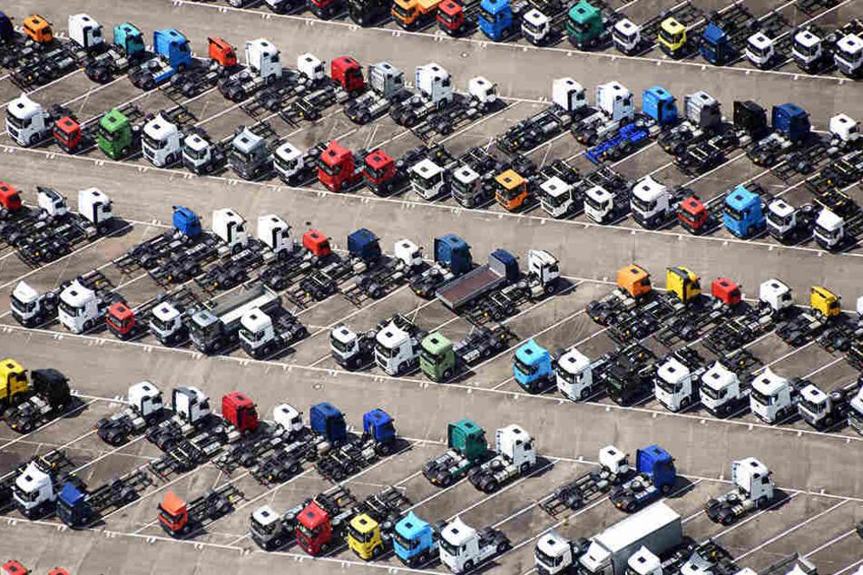 """Überfüllte Parkplätze: Außer Patrick Henschel (36) kennen auch viele andere Kraftfahrer dieses Problem. Mit der App """"Rollery"""" soll jetzt alles einfacher werden."""