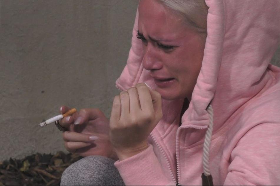 Kein seltenes Bild: Sarah weint.