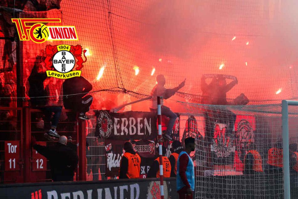 Pyro-Chaoten sorgen für Spielunterbrechung bei Union Berlin gegen Leverkusen!