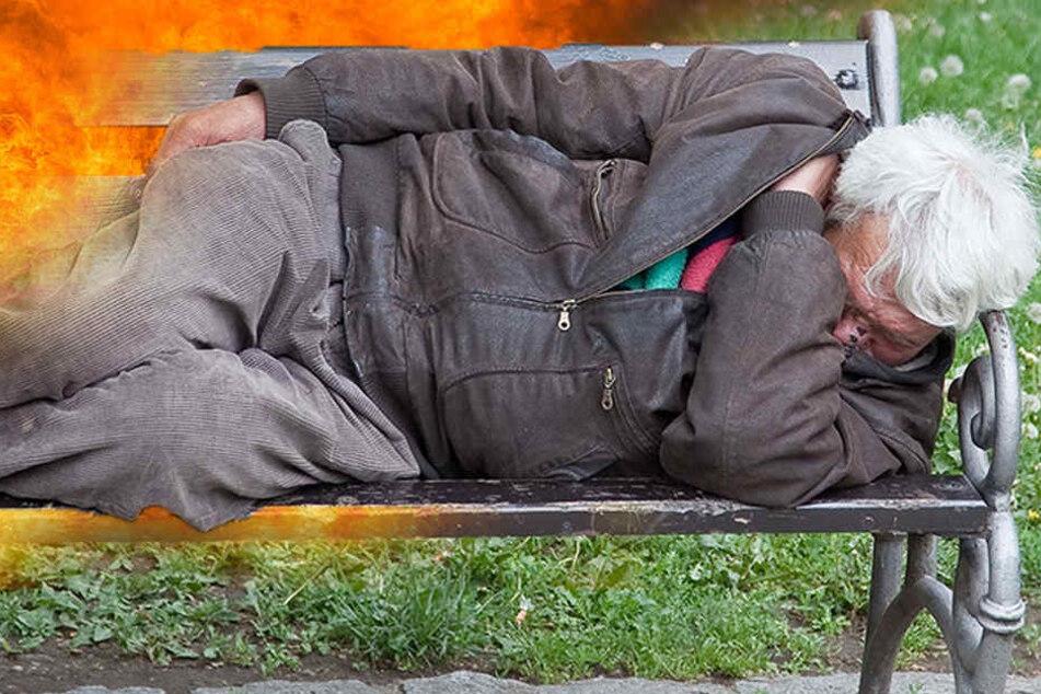 Obdachloser, der vor einem Monat angezündet wurde, ist tot