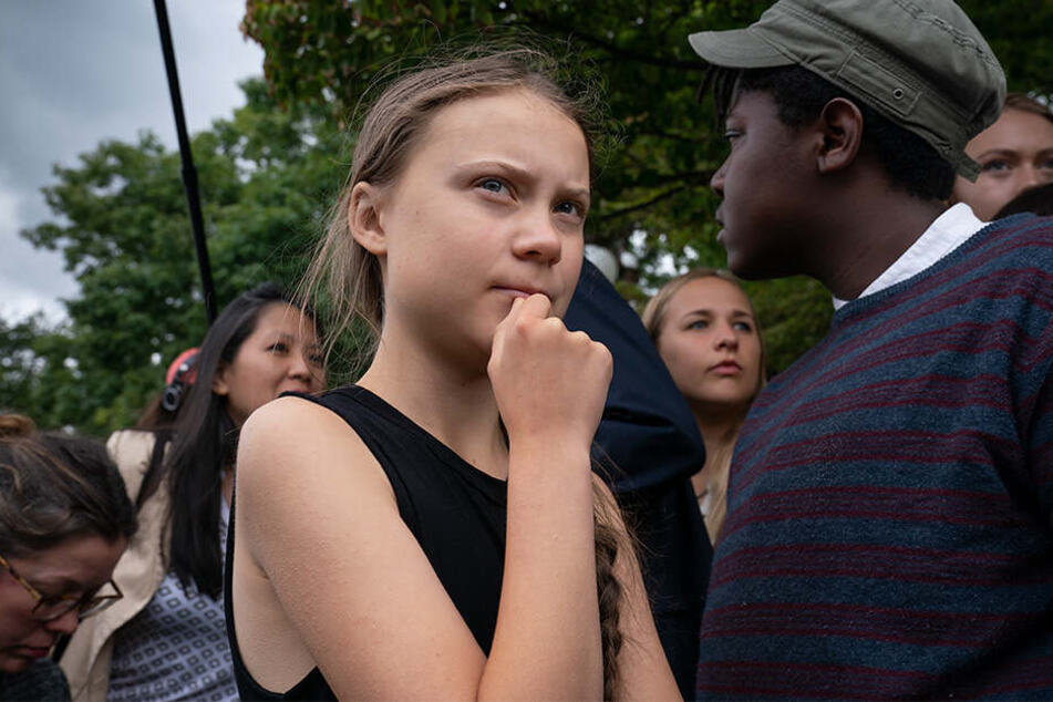 Greta Thunberg (16) am 17. September in Washington.
