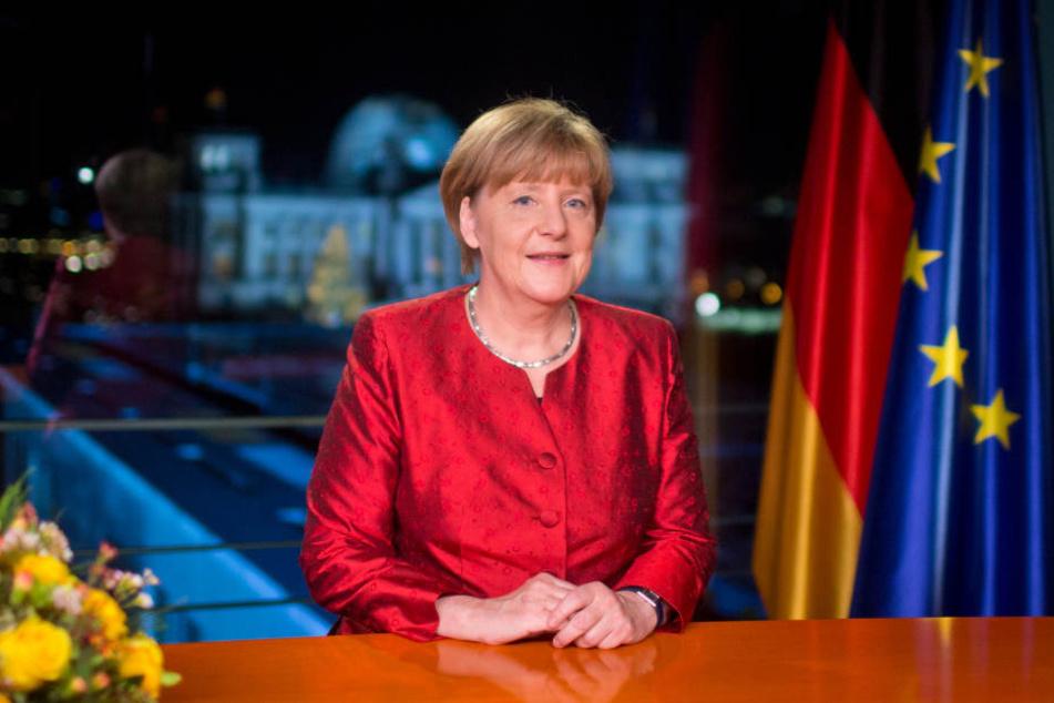 So sieht es aus, wenn Angela Merkel ihre Neujahrsansprache als Bundeskanzlerin hält (Archivbild).