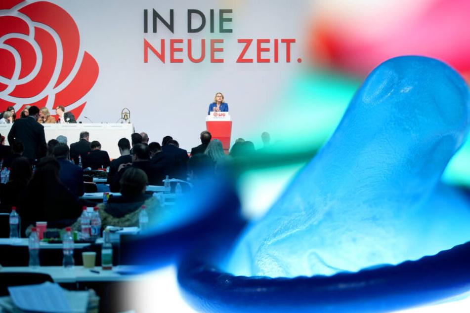 Lecktücher und Kondome gratis? Häme im Netz für kuriosen Antrag auf SPD-Parteitag