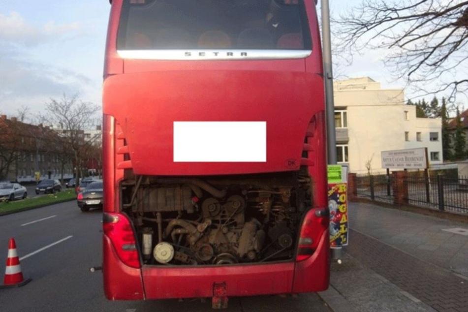 Der Motor war verölt und regelrecht verrottet.