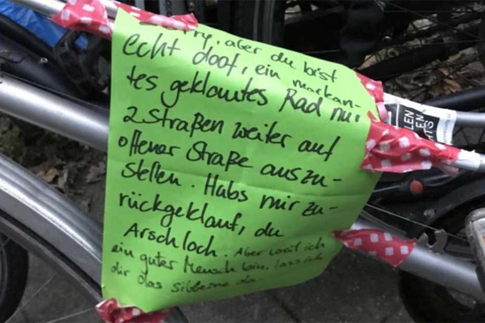 Der Brief an den Dieb wurde bei Notes of Berlin veröffentlicht.