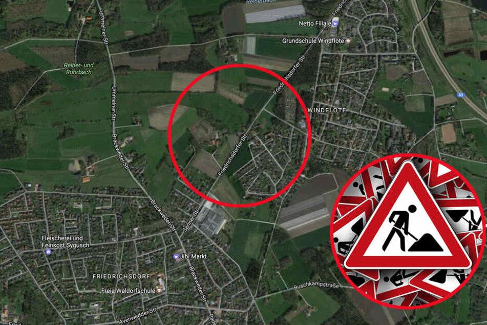 Zwischen Schoppen- und Niederheide ist die Durchfahrt verboten.