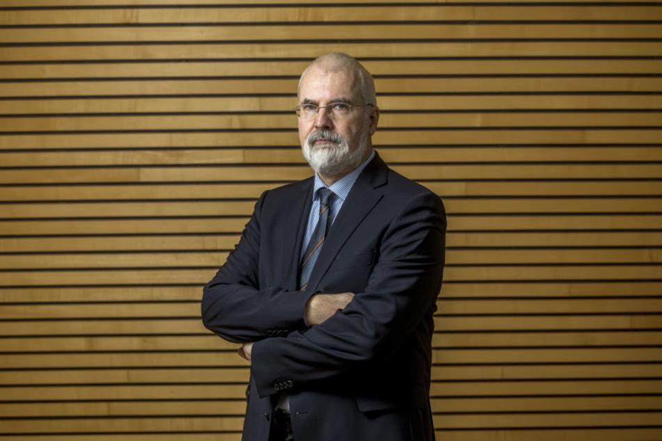 Der Sächsische Datenschutzbeauftragte Andreas Schurig (58) sieht die Videoüberwachung eher skeptisch.