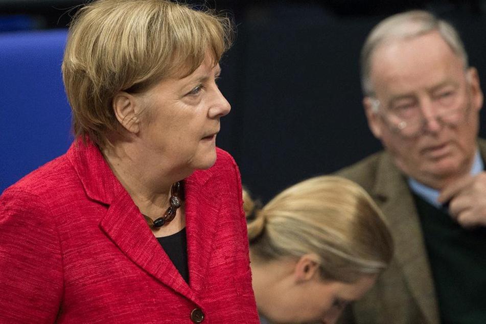 """""""Wir werden Frau Merkel jagen"""", sagte Alexander Gauland (76, AfD) kurz nach der Wahl."""