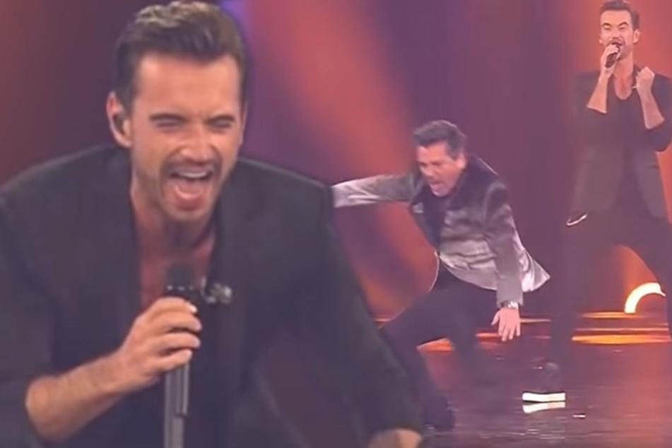 Florian Silbereisen singt gerade mit Thomas Anders, als es plötzlich passiert...