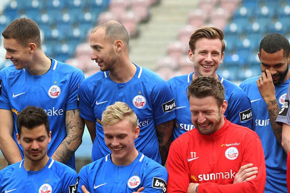 Viele dieser Gesichter wird man in der kommenden Saison nicht mehr im Trikot vom FC Hansa Rostock sehen.