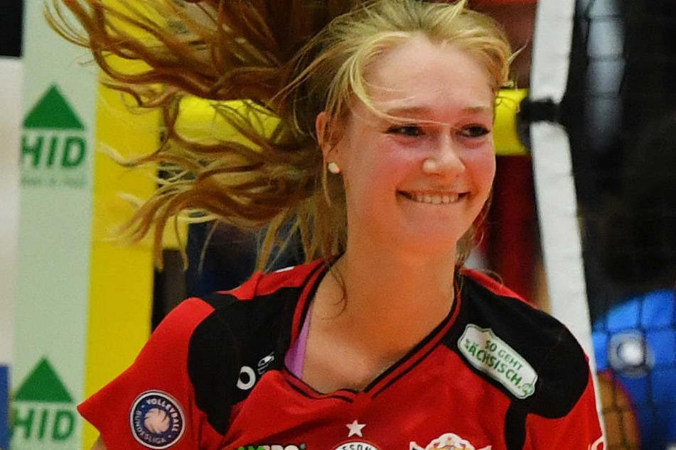 Dominika Strumilo fühlt sich wohl beim DSC, trotz der Enttäuschung über die Bronze-Medaille.