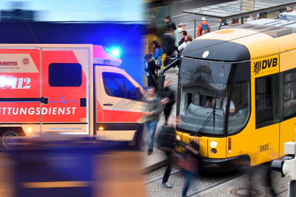 Mann stürzt nach Notbremsung in DVB-Straßenbahn: Polizei auf der Suche nach Zeugen