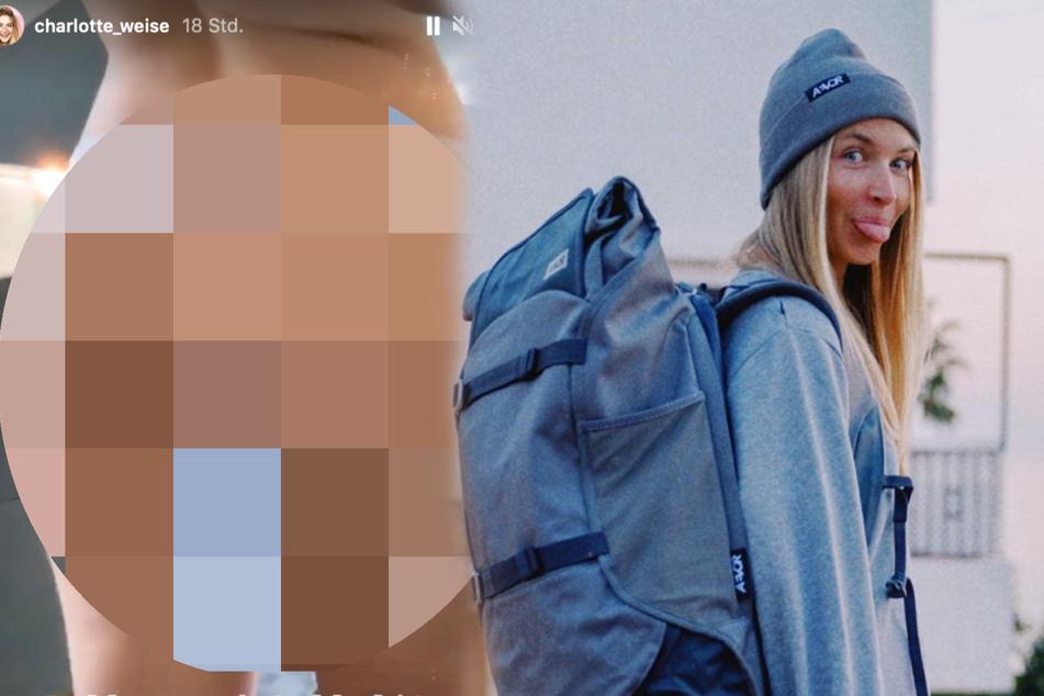 Influencerin Charlotte Weise schamlos: So sieht ihr Popo aus