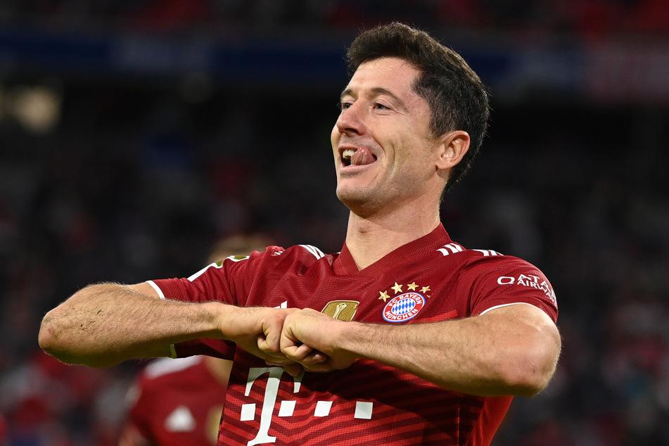 Robert Lewandowski (33) vom FC Bayern München trifft in der Bundesliga nahezu nach Belieben und lässt es auch international krachen.
