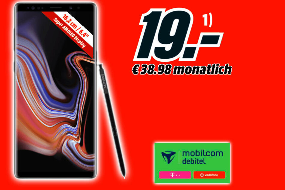 Bis zum 22. Oktober: Das geniale Note 9 bekommt Ihr für einmalig 19 Euro!