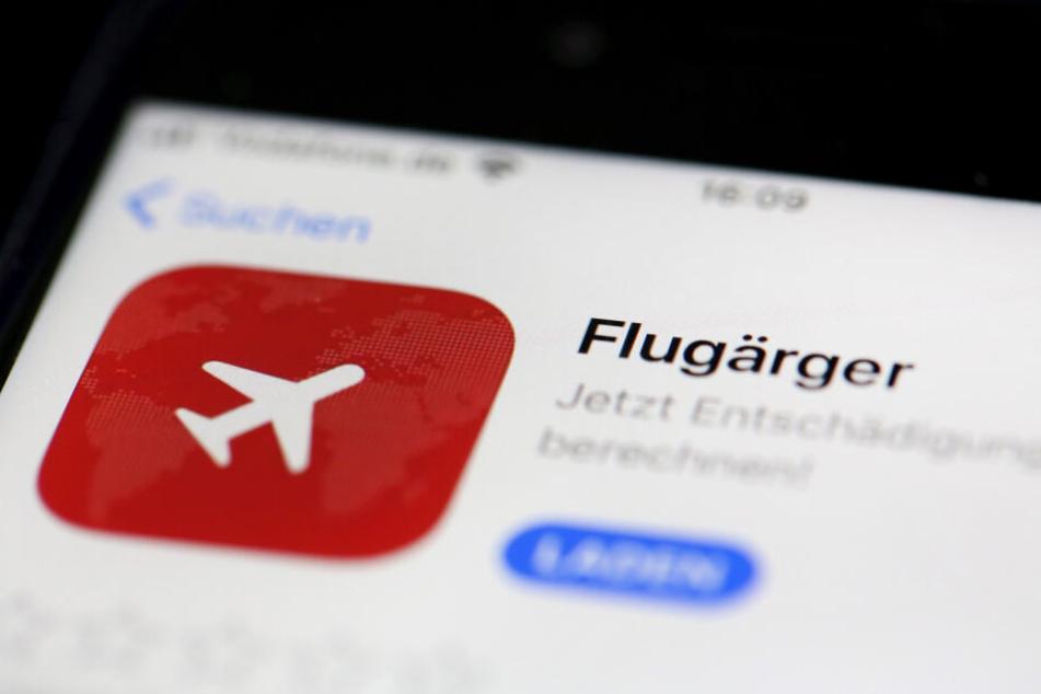 """Das Foto zeigt die """"Flugärger-App"""" im App-Store."""