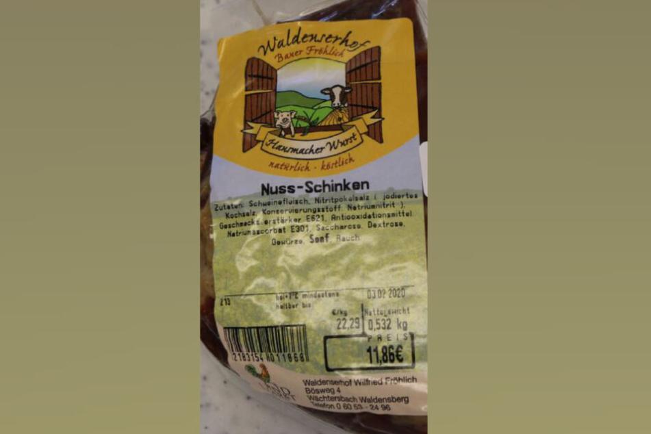 Im Nuss-Schinken der Firma Waldenserhof wurden Listerien nachgewiesen.