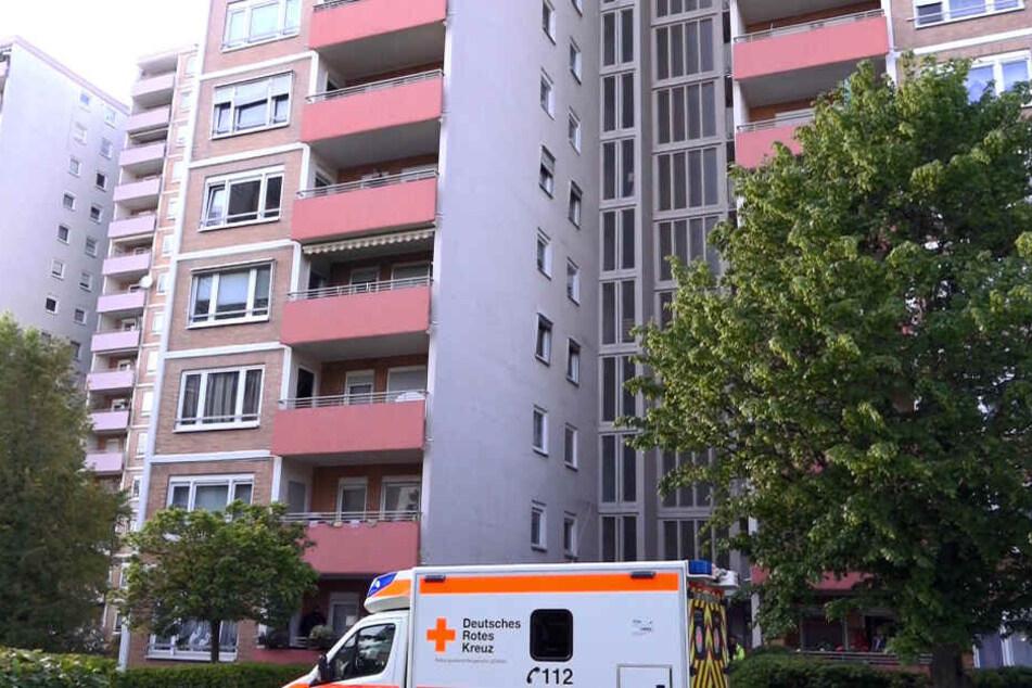 Das Foto zeigt den Wohnblock, in dem sich das Drama abspielte.