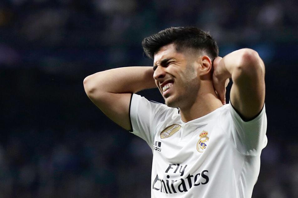 Sergio Asensio erzielte zwar den 1:3-Anschlusstreffer für Real Madrid, schied aber dennoch krachend aus der Champions League aus.