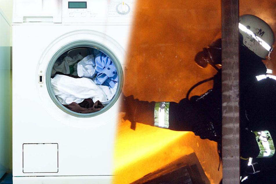 Waschmaschine geht in Flammen auf: 10.000 Euro Schaden