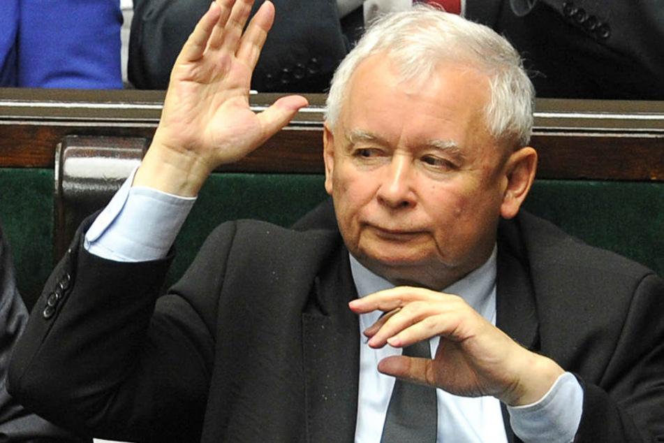 Der Vorsitzende der polnischen Regierungspartei Recht und Gerechtigkeit (PiS), Jaroslaw Kaczynski,