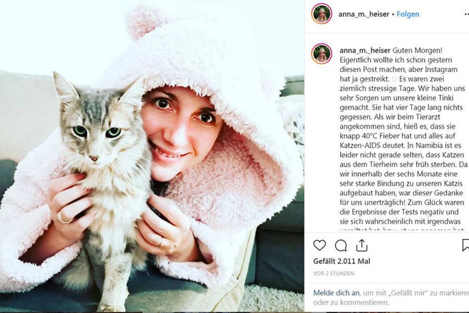 Entwarnung auf Instagram: Tinki geht es schon viel besser!